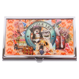 Nicole Lee Signature Print World Tour Metallic Business Card Case
