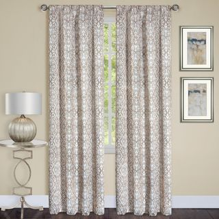 Madison Black/Taupe/Silver 84-inch x 63-inch Window Curtain Panel