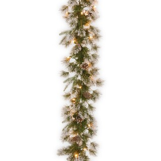 9-foot Liberty Pine Garland with Clear Lights