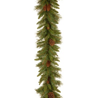 9-feet Artificial Indoor/Outdoor Pine Cone Garland