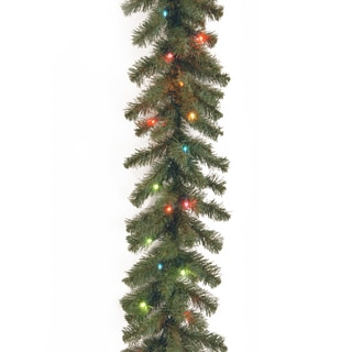 9-foot Kincaid Spruce Garland with Multicolor Lights