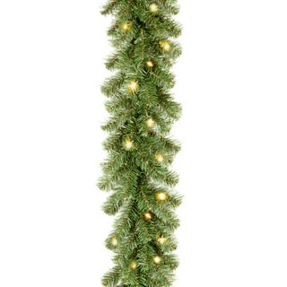 Kincaid Spruce 9-feet Artificial Garland With 50 Clear Lights
