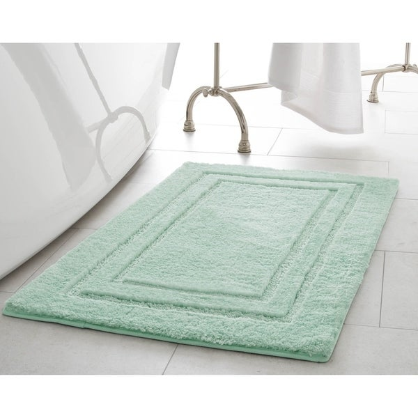 Laura Ashley Pearl Double Border 20 x 32 in. Bath Mat