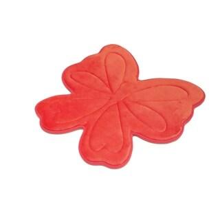 Laura Ashley Memory Foam Butterfly 30 x 30 in. Bath Mat