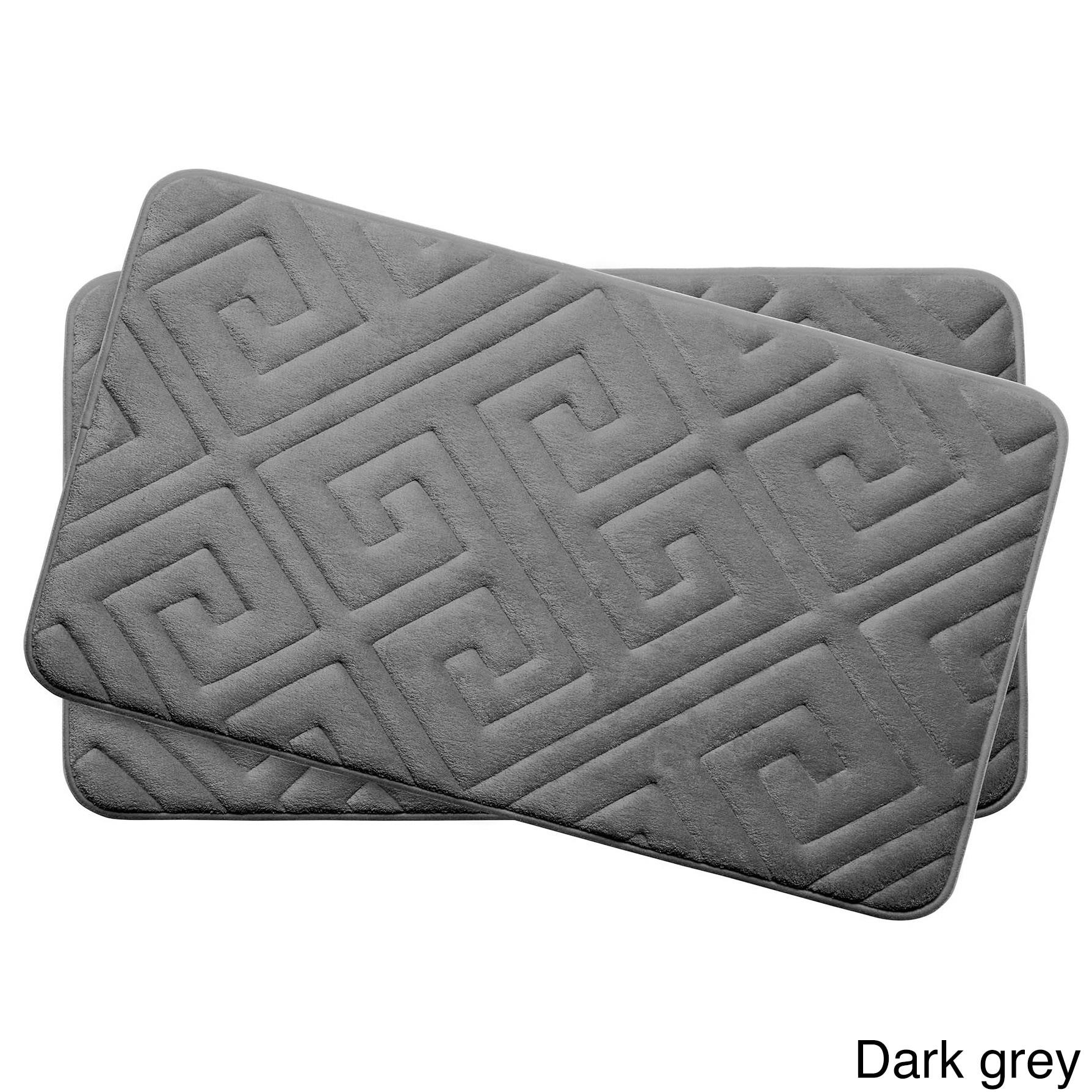 Caicos Memory Foam 17 In X 24 In 2 Piece Bath Mat Set W