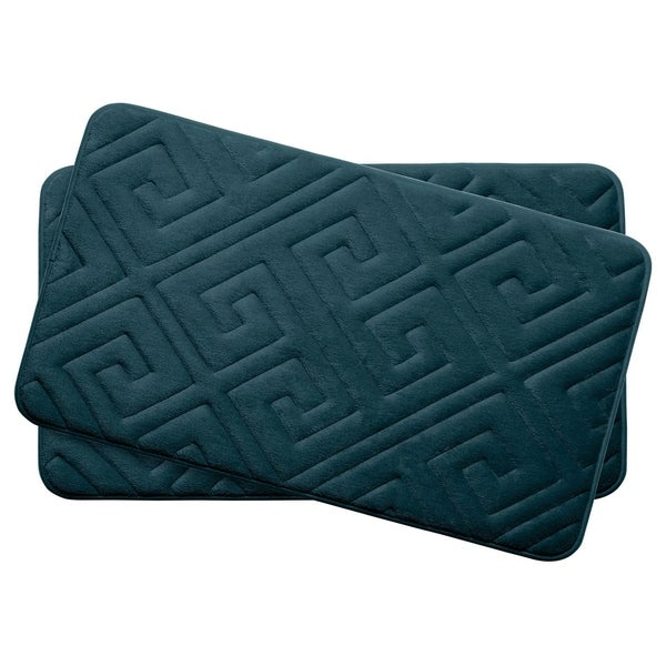 Caicos Memory Foam 17 in. x 24 in. 2-Piece Bath Mat Set w/ BounceComfort Technology