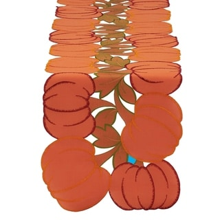 Embroidered Pumpkins 14-inch x 60-inch Table Runner