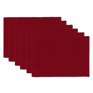 Redwood Burgundy Cotton Placemats (Set of 6)