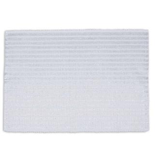 Silvertone Cotton Metallic Stripe Placemats (Pack of 6)