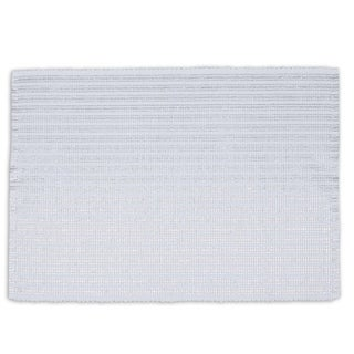 Silvertone Cotton Metallic Stripe Placemats (Pack of 6)
