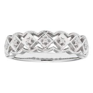 H Star Sterling Silver Diamond Accent Fashion Ring (I-J, I2-I3)