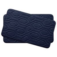 Turtle Shell Memory Foam 17 in. x 24 in. 2-Piece Bath Mat Set w/ BounceComfort Technology