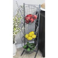 Elly Small Whimsy Grey Metal Basket Organizer