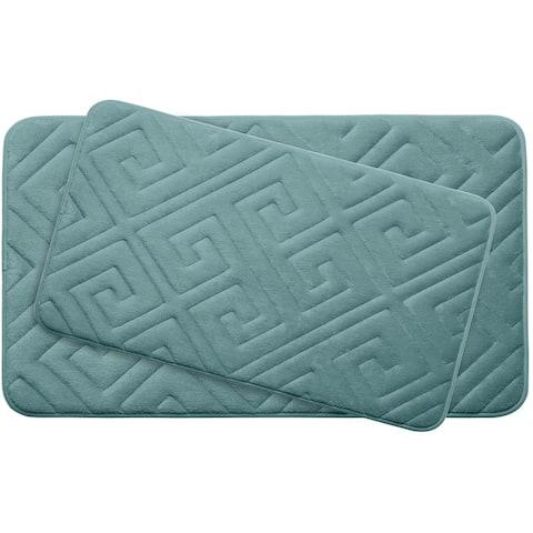 Caicos Memory Foam 2-Piece Bath Mat Set w/ BounceComfort Technology