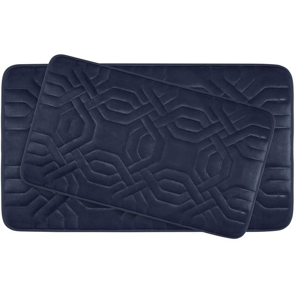 Chain Ring Memory Foam 2-Piece Bath Mat Set w/ BounceComfort Technology