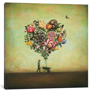 iCanvas Big Heart Botany by Duy Huynh Canvas Print