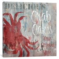 iCanvas New Orleans Seafood II by Color Bakery Canvas Print