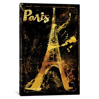 iCanvas Gold Eiffel by Color Bakery Canvas Print