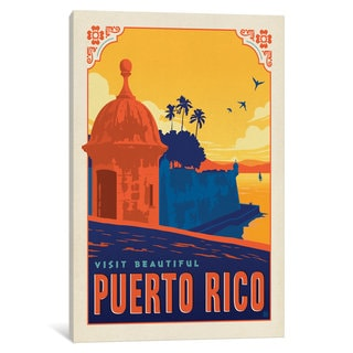 iCanvas World Travel Collection: Commonwealth of Puerto Rico by Anderson Design Group Canvas Print