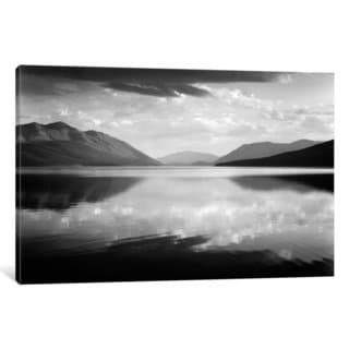 iCanvas Evening, McDonald Lake, Glacier National Park by Ansel Adams Canvas Print