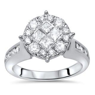 Noori 14k Gold 1ct TDW Princess Cut Diamond Engagement Ring (H-I, I1-I2)