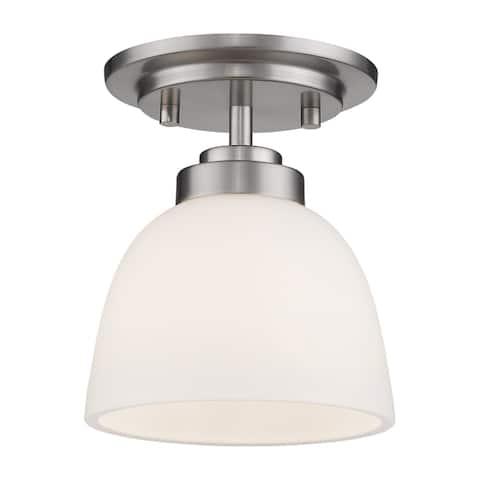 Ashton 1 Light Flush Mount - Brushed nickel