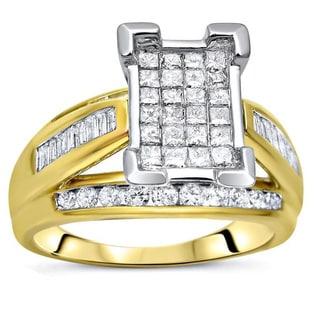 Noori 14k Two-tone Gold 1ct TDW Diamond Engagement Ring
