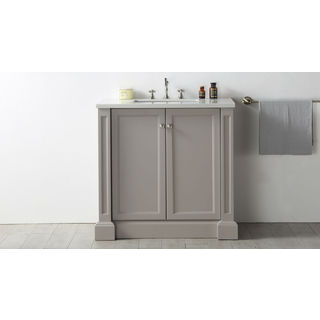 Legion Furniture Warm Grey 36 Inch Single Sink Vanity With Quartz Top