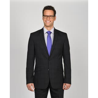 Kenneth Cole New York Charcoal Wool/Polyester/Lycra Plaid Suit Separates Jacket|https://ak1.ostkcdn.com/images/products/12738396/P19516493.jpg?impolicy=medium