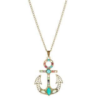 Bleek2Sheek Bohemian Rainbow Mosaic Anchor Long Pendant|https://ak1.ostkcdn.com/images/products/12738404/P19516508.jpg?impolicy=medium