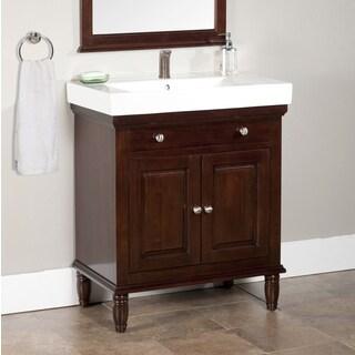 Monte Dark Brown 30-inch Single Bathroom Vanity