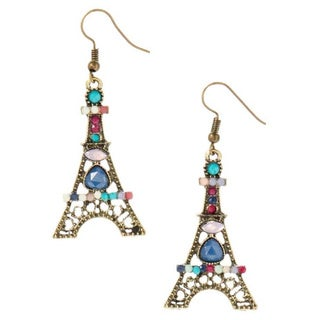 Bleek2sheek Bohemian Paris Tower Antiqued Bronzetone Dangle Earrings