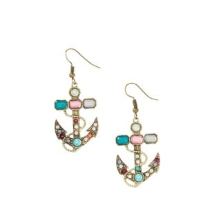 Bleek2Sheek Bohemian Marine Anchor Antiqued Bronzetone Dangle Earrings