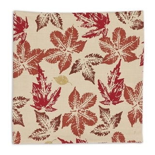 Rustic Leaves Multicolor Cotton Napkins (Pack of 6)