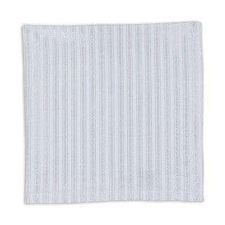 Silver Metallic-striped Cotton Napkins (Set of 6)