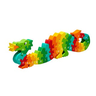 Lanka Kade Multicolor Wood Dragon A-Z Jigsaw 3-D Puzzle