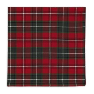 Multicolored Cotton Holiday Plaid Napkin (Pack of 6)