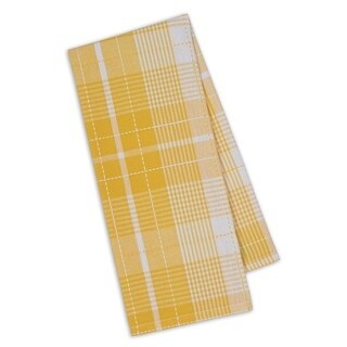 Daffodil Plaid Multicolor Cotton Dishtowels (Pack of 4)