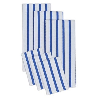Striped Cotton Heavyweight Dish Cloth and Hand Towel (Set of 3 Pairs)