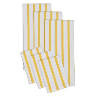 Striped Cotton Heavyweight Dish Cloth and Hand Towel (Set of 6)
