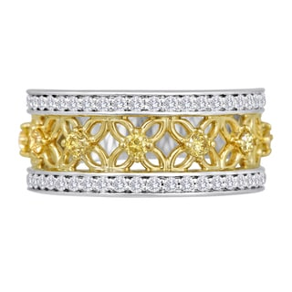 Two-tone Yellow and White 3/4ct TDW Diamond Anniversary Band by Life More Dazzling