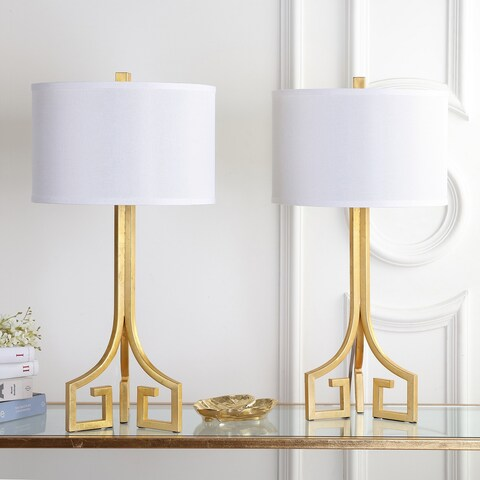 Safavieh Lighting 27-inch Arabelle Hardback Gold Table Lamp (Set of 2)