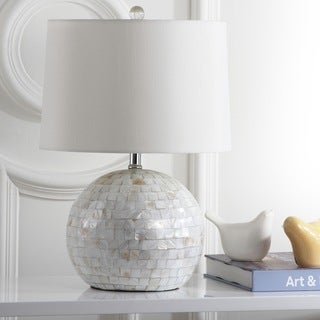 Safavieh Lighting Nikki 21.5- Inch Shell Creme Table Lamp