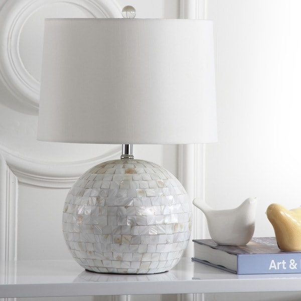 Safavieh Lighting 21.5-inch Nikki Shell Cream Table Lamp