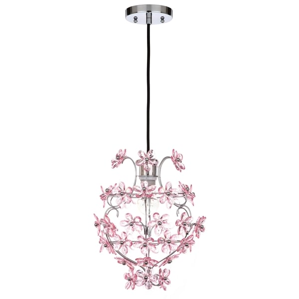 Safavieh lighting 1175 inch raz floral 1 light raz floral chrome safavieh lighting 1175 inch raz floral 1 light raz floral chrome pink adjustable mozeypictures Gallery