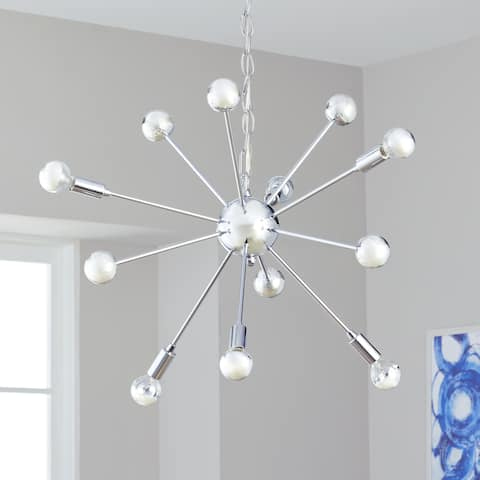 "Safavieh Lighting 25-inch Matrix Sputnik 6-light Chrome Adjustable Pendant Lamp - 24.75""x24.75""x22-94"""
