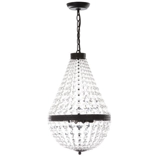 Safavieh Lighting Adjustable 3-Light Crystal Empire Rusty/ Clear Pendant Light