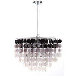 Safavieh Lighting 22-Inch Adjustable 1-Light Harper Shell Black To White Pendant Lamp