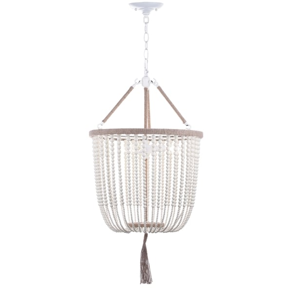 Safavieh Lighting 18 Inch Adjustable Beaded 3 Light Angie
