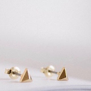 LilahV Rose gold, Gold or Silver Teeny Tiny Triangle Studs